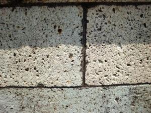 水性防水剤Water Proofを塗布後の大谷石