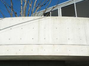 防水剤塗布後のコンクリートの自然美
