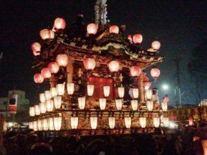 前年2011年秩父祭りの笠鉾