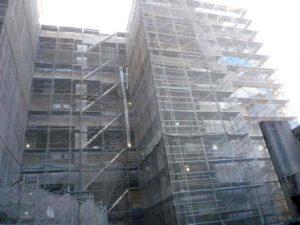 武蔵野美術大学2号館新築現場南面全景