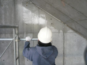 フェイスガード防水剤XP100 塗装:十分に防水確認
