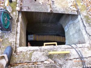 地価の水路へ施工