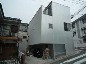 大田区のアルミパネル外壁の保護塗装