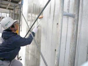 防水塗装:フェイスガード防水剤を14000㎡に塗布しました