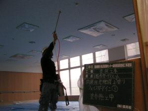 天井に光触媒塗装を致しました