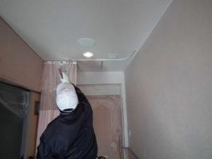 壁・天井・ドア全て塗装しました