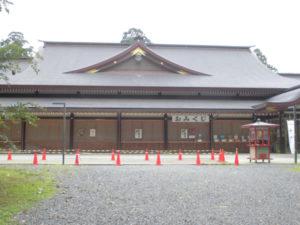 鹿島神宮でテスト施工をさせて戴きました