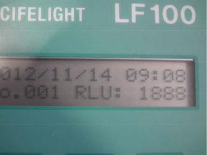 施工前の菌数は1880を測定しました