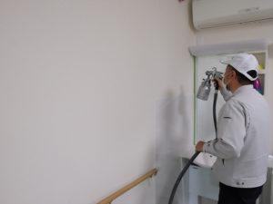 壁面全体に、均一に塗布しました。