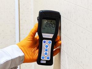 壁の汚染度の菌数は280を計測しました。