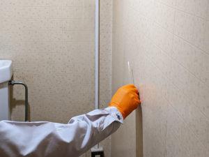 トイレの壁面の汚染度を計測
