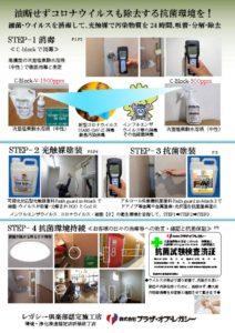 抗菌対策:消毒・光触媒塗装・抗菌塗装・抗菌持続概要のサムネイル
