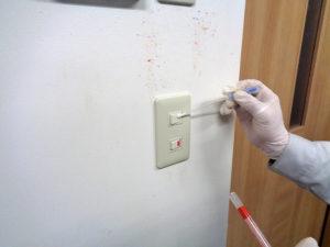 細菌測定 樹脂のスイッチ類を測定