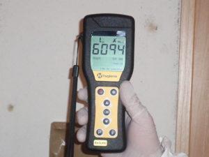 6094の激甚汚染数値を計測しました