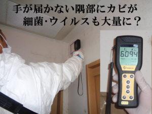 劇甚汚染の壁面上部クロスに抗菌施工