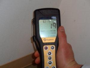 カビ洗浄後、C-Blockで消毒して測定1239が19に減少