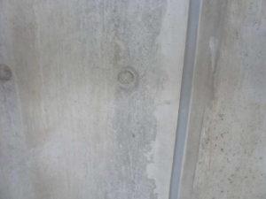 作業の終わりで、XP300が乾燥後のコンクリート