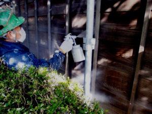 木部保護剤WG2シールドで防水と腐食防止塗装を全体に行いました