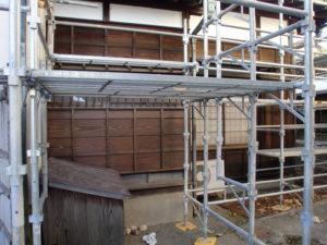 木部保護剤WG2シールドで防水と腐食防止塗装後