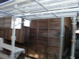 木部保護剤WG2シールドで防水と腐食防止塗装後の板壁